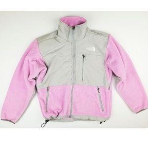 THE NORTH FACE women's pink, gray Denali fleece